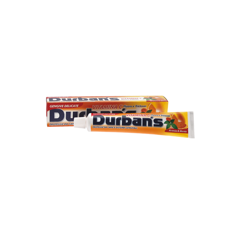 dentifricio vitamina c arancia e menta per gengive delicate con fluoro e triclosan 75 ml