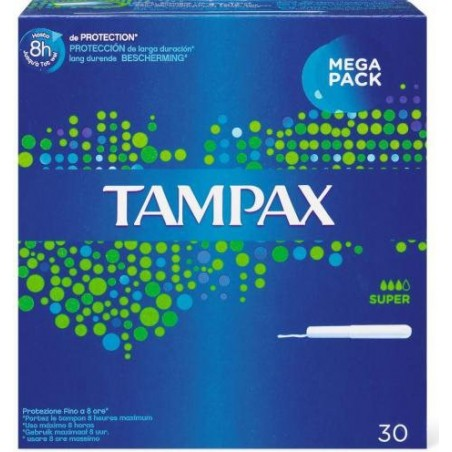 TAMPAX - blue box super assorbenti interni 1 confezione 30 pezzi
