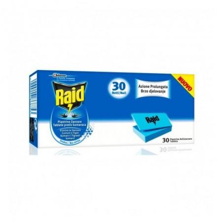RAID - 30 Piastrine Zanzare Ricarica Inodore