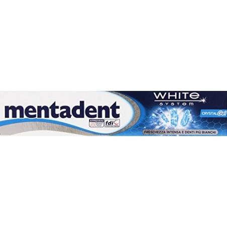 Mentadent - dentifricio sbiancante crystal gel freschezza intensiva 75 ml