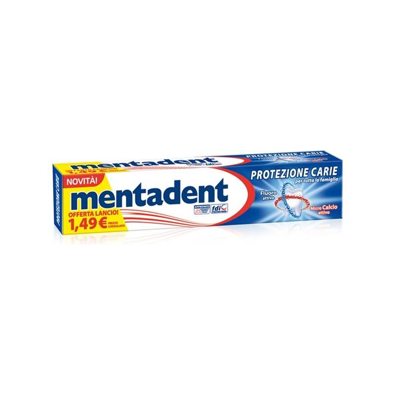 dentifricio protezione carie con microcalcio e fluoro attivo 75 ml