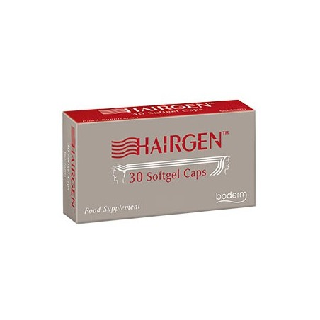 BODERM - Hairgen - Integratore Alimentare per Capelli Con Azione Anticaduta 30 Capsule Softgel