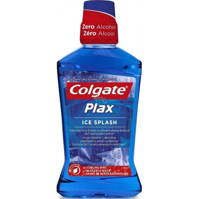 COLGATE - Plax Ice Splash - collutorio freschezza intensa 500 ml