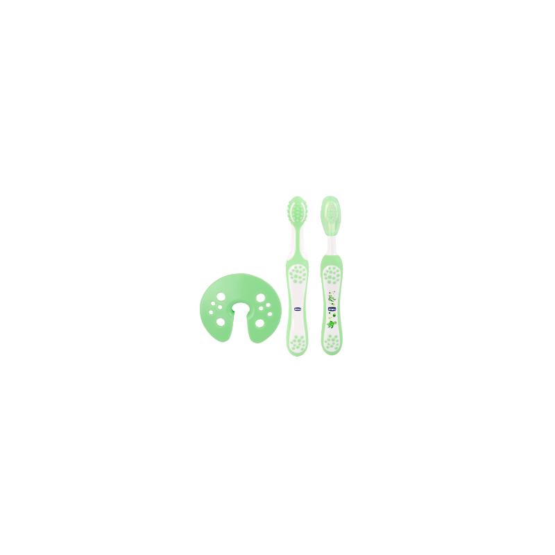 Chicco - set evolutivo spazzolino massaggiatore 4m+