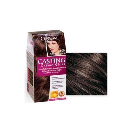L'Oreal Paris - tinta per capelli casting creme gloss senza ammoniaca n500 castano chiaro