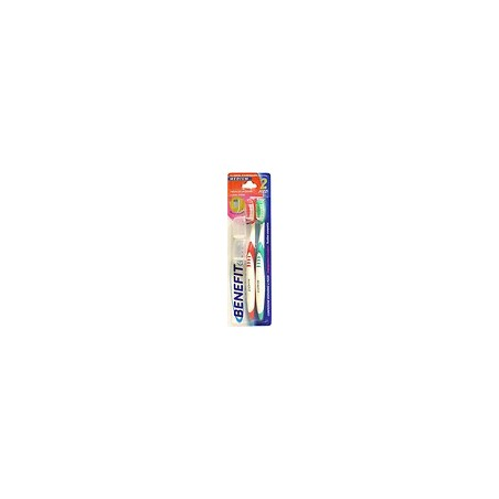 BENEFIT - spazzolino da denti benefit clinic medium confezione risparmio da 2 pezzi