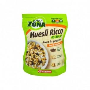 Enerzona Muesli Ricco 40-30-30 230 g - Barretta Proteica