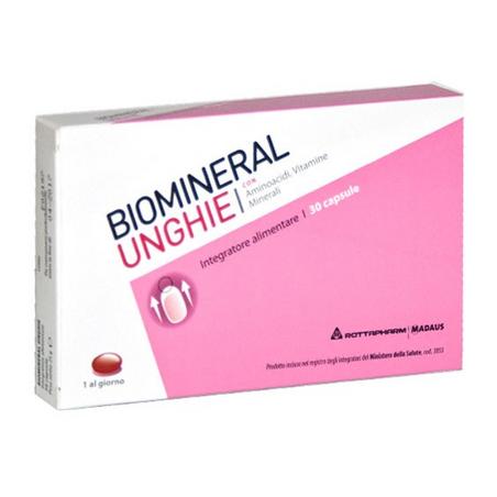 biomineral unghie - integratore per unghie deboli 30 capsule
