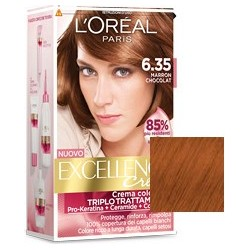 trattamento colorante per capelli excellence creme n 6/35 marron chocolat