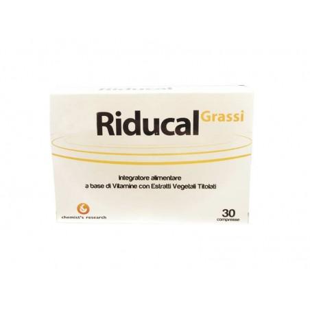 CHEMIST S RESEARCH - Riducal Grassi - Integratore Alimentare Per Il Controllo Del Peso 30 Compresse