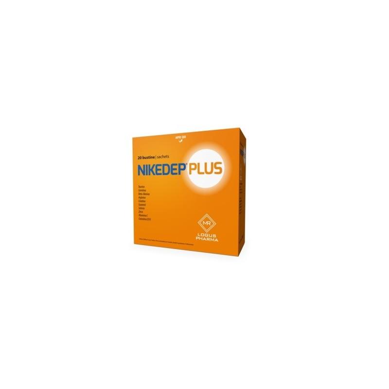LOGUS PHARMA - Nikedep Plus - integratore alimentare energetico 20 bustine