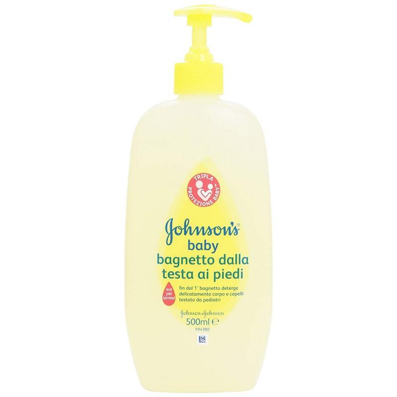 Johnson & Johnson - bagnoschiuma per bambini bagnetto dalla testa ai piedi 500 ml
