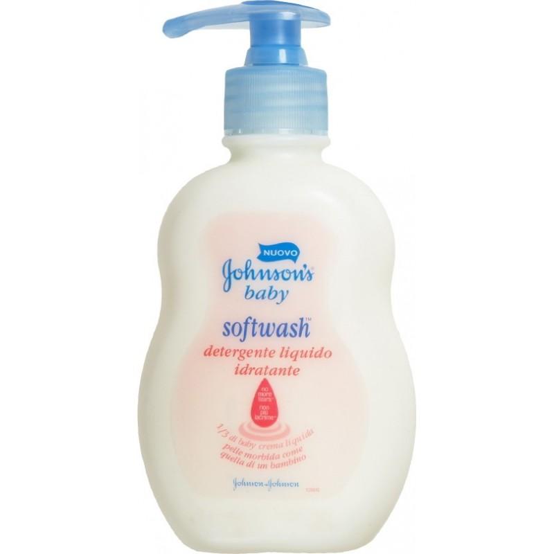 Johnson & Johnson - detergente intimo per bambini idratante softwash 250 ml