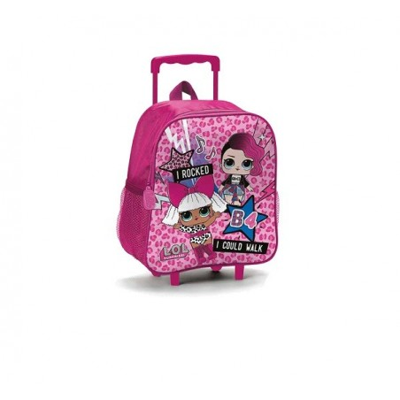 LOL SURPRISE - Zaino scuola con trolley colore rosa