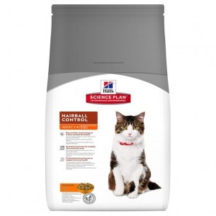 science plan feline adult hairball control mangime secco gusto pollo  kg. 1,5