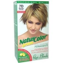 tinta per capelli colorazione permanente naturale natur color green7 d biondo dorato