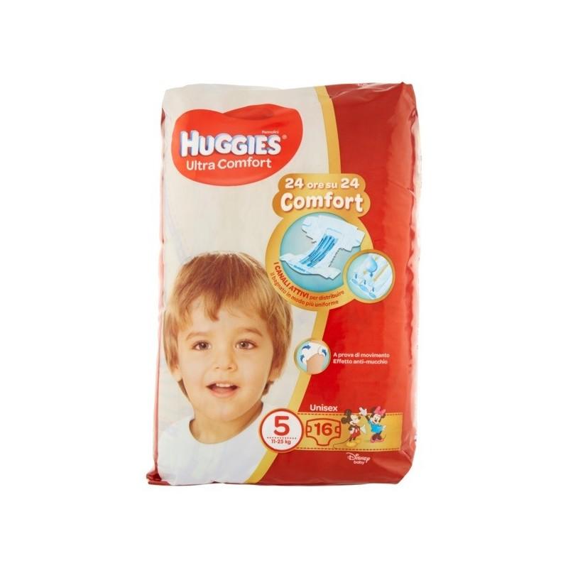 HUGGIES - ultra comfort unisex - taglia 5 (11-25 kg) confezione 16 pannolini