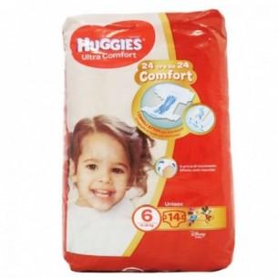 ultra comfort unisex - taglia 6 (15-30 kg) confezione 14 pannolini