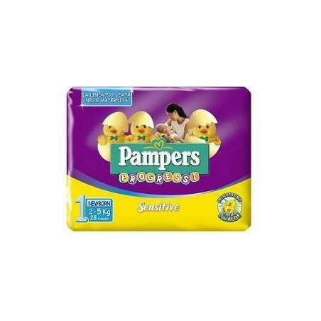 Pampers - pannolini sensitive new baby pannolini 2-5 kg 28 pezzi