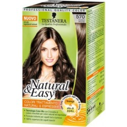 tinta per capelli colorazione permanente natural & easy n 570 castano naturale