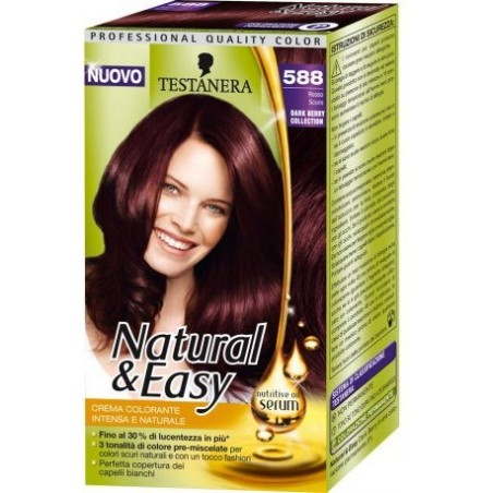 Testanera - Tinta Per Capelli Colorazione Permanente Natural   Easy N 588  Rosso Scuro 37be27811220