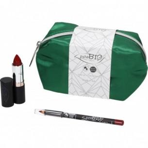 Pochette Verde - Cofanetto regalo Rossetto n.14 + Matita Labbra n.47