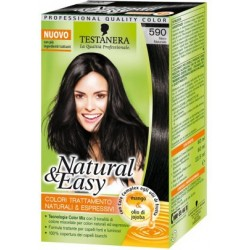 tinta per capelli colorazione permanente natural & easy n 590 nero naturale