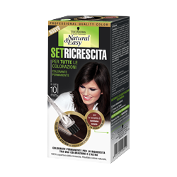 tinta per capelli colorazione permanente natural & easy set ricrescita 04 castano scuro