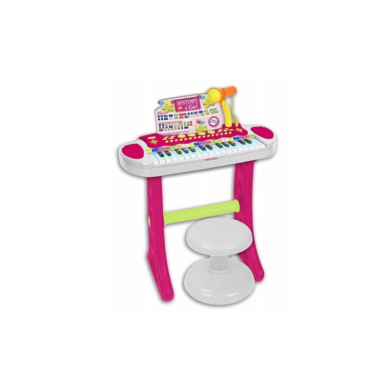 BONTEMPI - i-Girl - Tastiera con 31 tasti con Stand, Microfono e sgabello