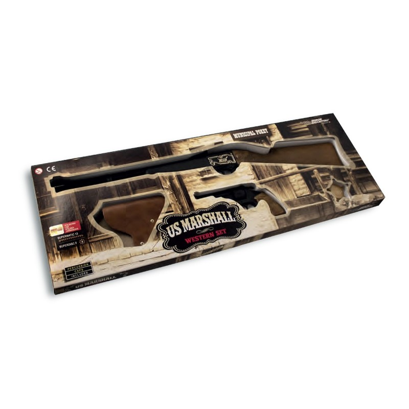 EDISON GIOCATTOLI - US Marshall western set - kit di armi giocattolo