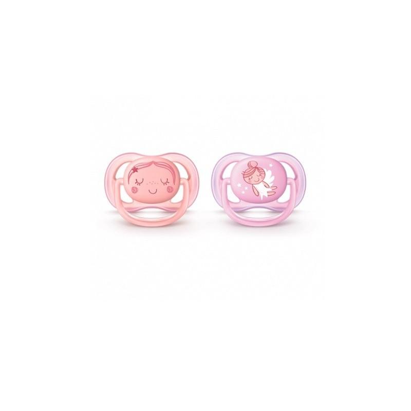 AVENT - Succhietto Ultra air 0-6 m - confezione 2 ciucci fairy