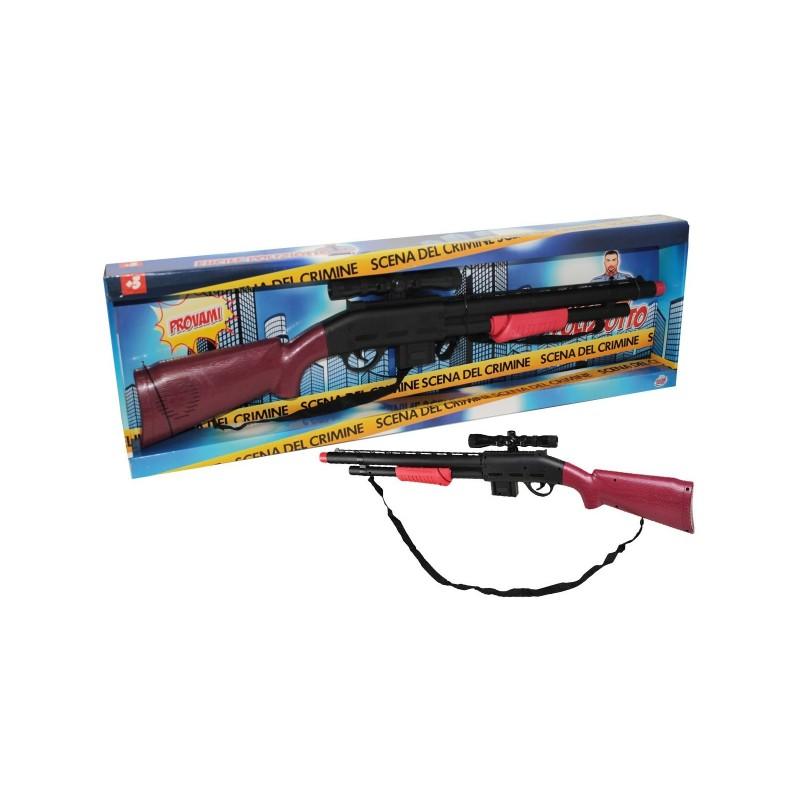 GRANDI GIOCHI - Fucile giocattolo della polizia con sparo 69 cm