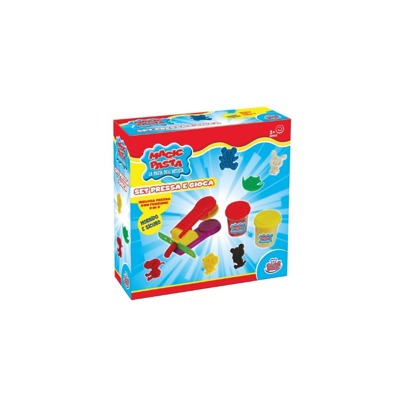 GRANDI GIOCHI - Magic Pasta - Set Pressa e Gioca