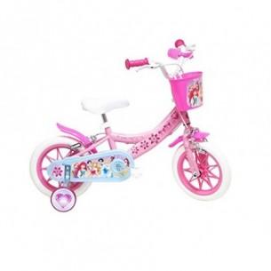 """bicicletta delle principesse con rotelle diametro ruota 12"""""""