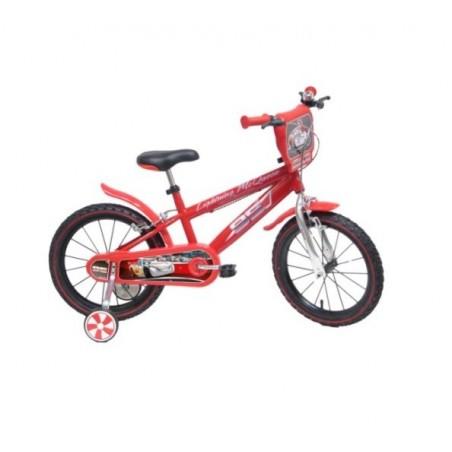 "MONDO - Disney cars - bicicletta con rotelle diametro ruota 16"""