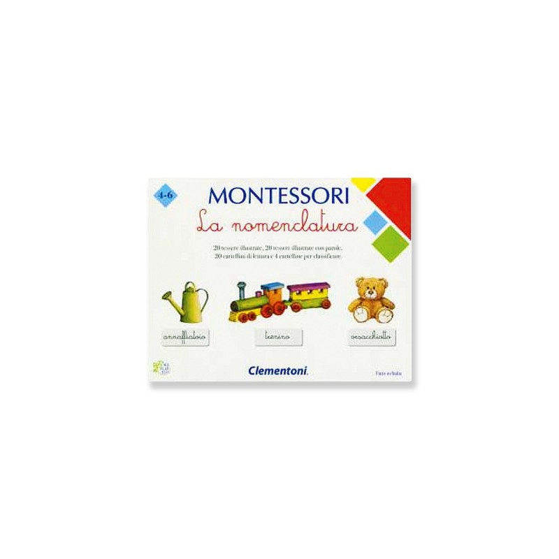 CLEMENTONI - Montessori La Nomenclatura - gioco educativo