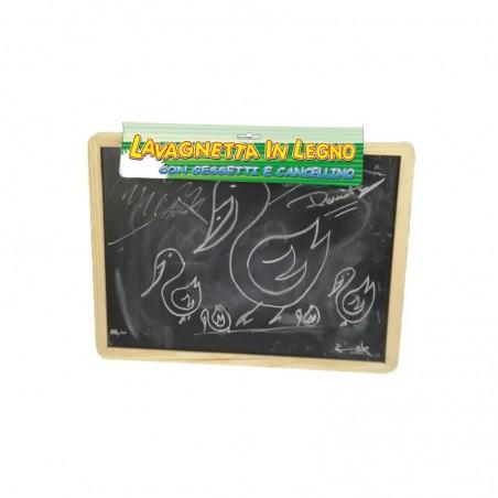 KIDZ CORNER - Lavagnetta in legno con gessetti e cancellino