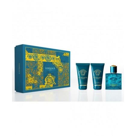 VERSACE - Eros Kit - Eau de Toilette 50ml + Gel doccia 50 ml + Balsamo dopobarba 50 ml