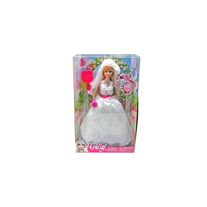 KIDZ CORNER - Anlily sposa con accessori - Bambola