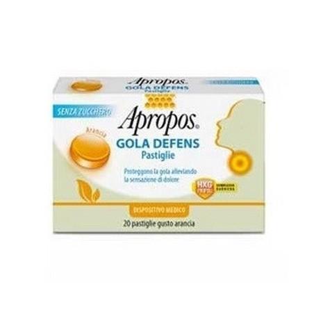 APROPOS - Gola Defens - 20 pastiglie gusto arancia