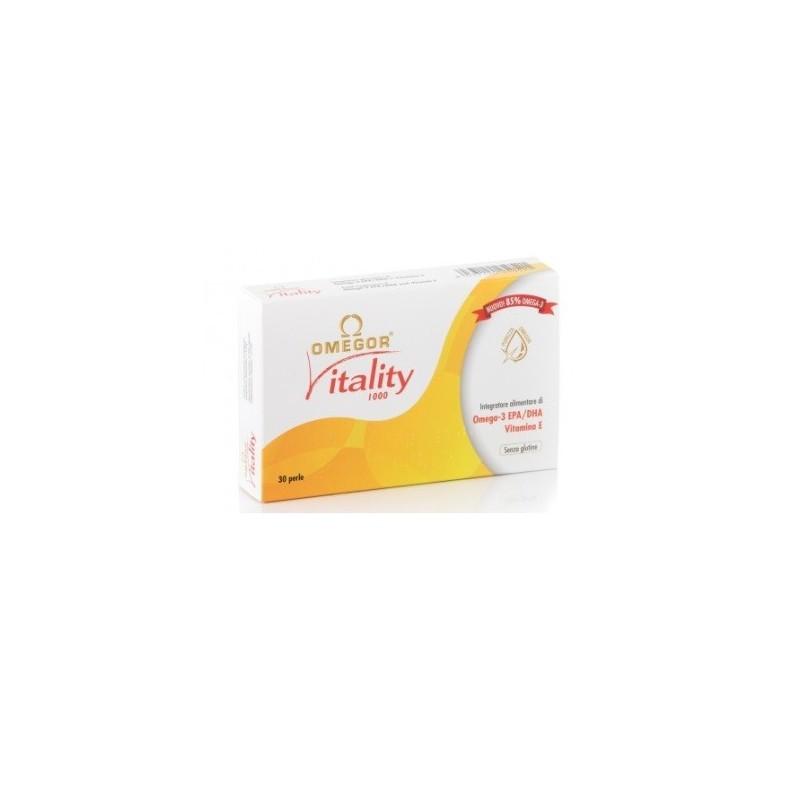 U.G.A. NUTRACEUTICALS - Omegor Vitality 1000 -  integratore di omega 3 - 30 perle