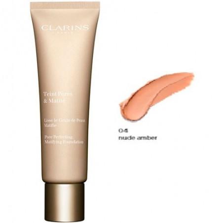CLARINS - teint pores & matité - fondotinta fluido n. 04 nude amber