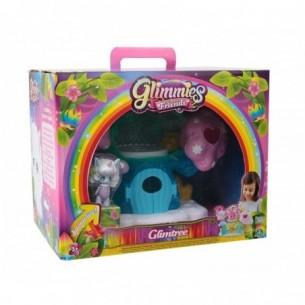 Glimmies rainbow friends glimtree - set con albero e mini doll