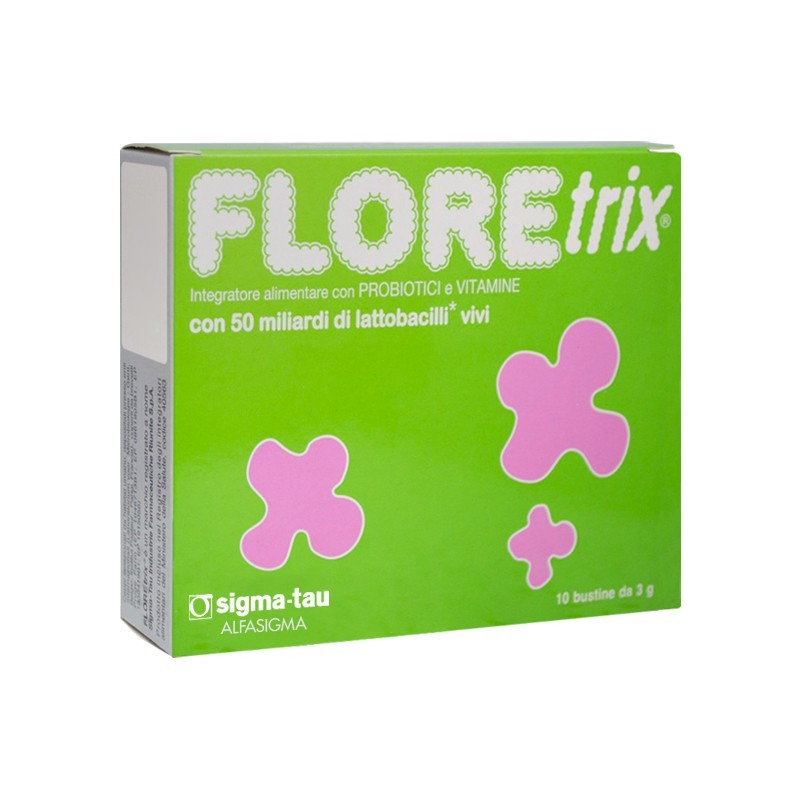ALFASIGMA - Floretrix - integratore alimentare a base di fermenti lattici - 10 bustine