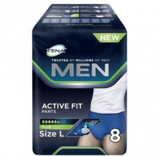 Men Active Pants active Fit Slip Assorbente Misura L - 8 mutandine