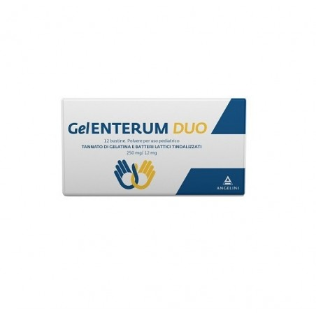 Angelini - GelEnterum duo - polvere per uso pediatrico Utile per l'equilibrio intestinale 12 bustine