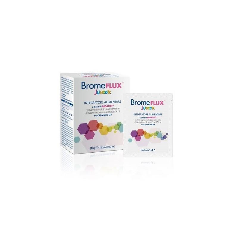 ADL FARMACEUTICI - bromeflux junior integratore alimentare a base di Bromelina e Ananas 10 bustine