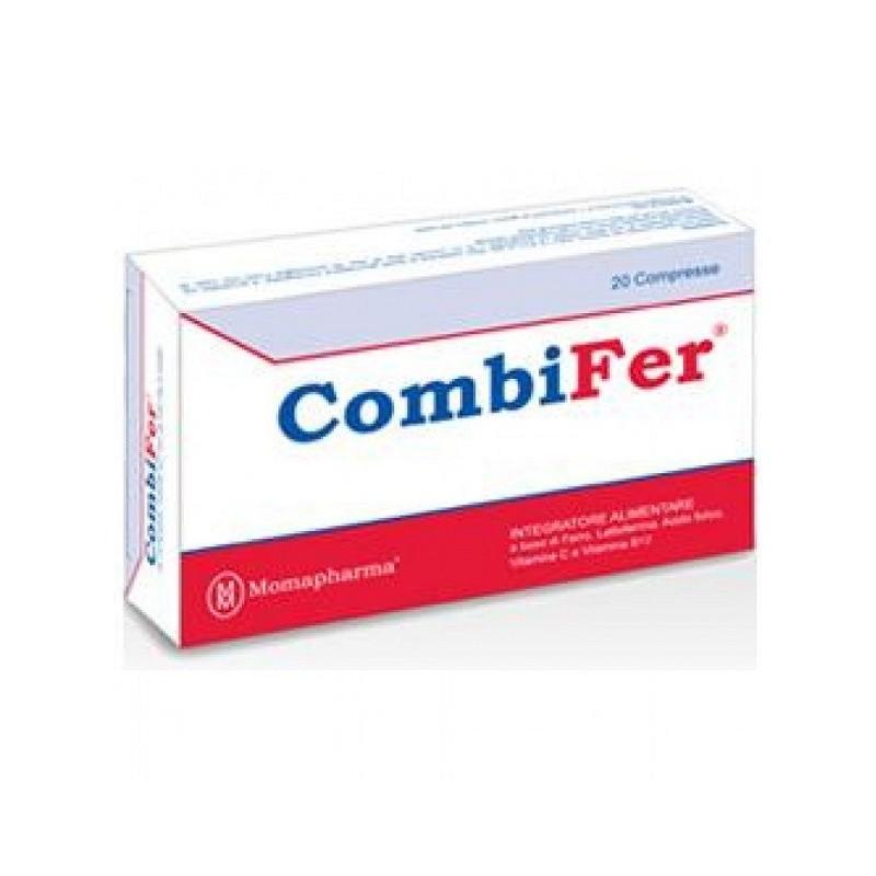 MOMAPHARMA - Combifer - Integratore alimentare di ferro 20 compresse