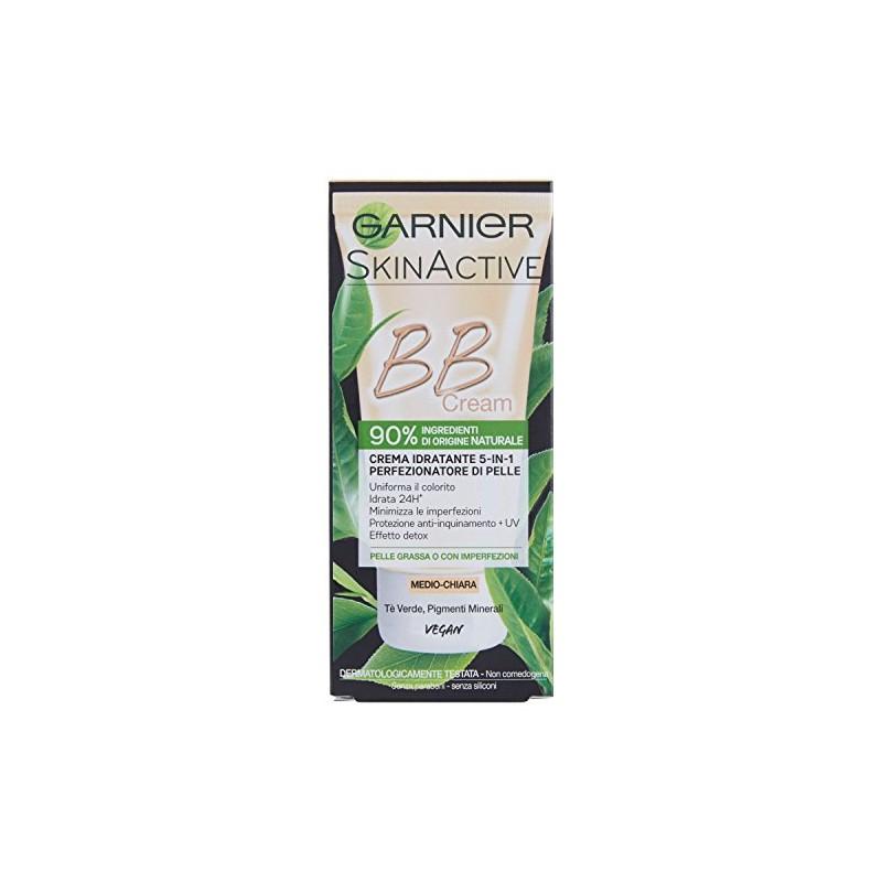 GARNIER - bb crema idratante 5 in 1 - perfezionatoore di pelle medio chiara 50 ml