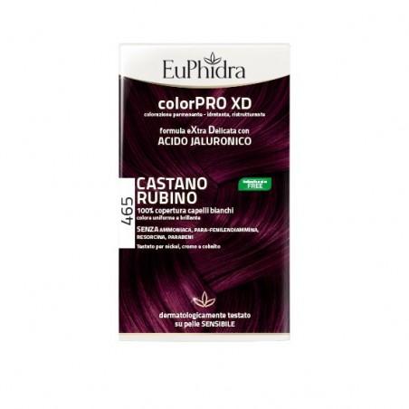 EUPHIDRA - ColorPRO XD - colorazione permanente con acido jaluronico 465 castano rubino